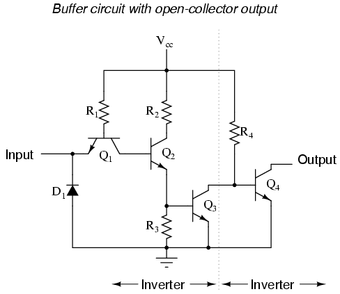 lessons in electric circuits volume iv digital chapter 3 let s analyze this circuit for two conditions an input logic level of 1 and an input logic level of 0 first a high 1 input