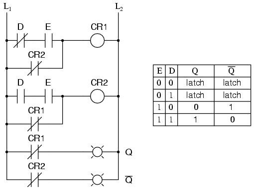 Latching Relay Circuit Ladder Diagram Wiring Circuit