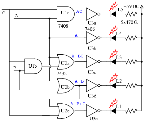 Led Display Circuit Diagram together with Simple 7 Segment Display Circuit Diagram additionally Simple Lights Wiring Diagram as well 7447 besides Topic2686637. on 7 segment display circuit diagram