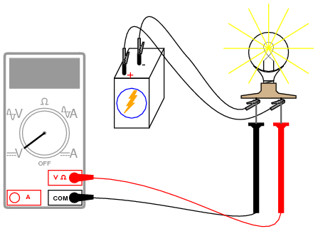 EXP 3 on volt meter wiring symbol