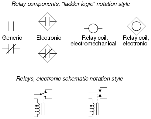 lessons in electric circuits volume v reference chapter 9 rh ibiblio org Relay Logic Symbols Relay Schematic Symbol