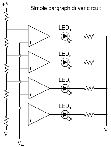 lessons in electric circuits volume iii semiconductors in the circuit shown above led1 would be the first to light up as the input voltage increased in a positive direction as the input voltage continued to