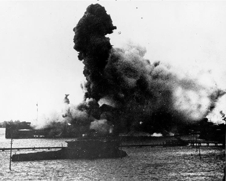 USS Arizona Gallery of the Explosion
