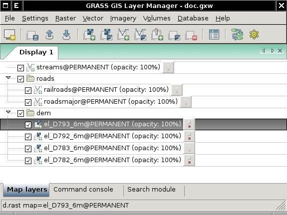 GRASS GIS Manual: wxGUI