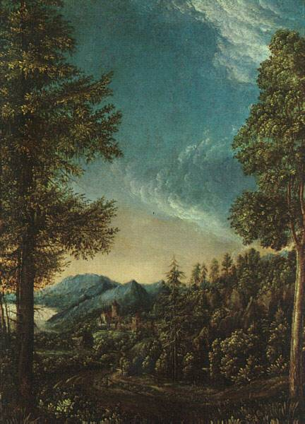 WebMuseum: Altdorfer, Albrecht: View of the Danube Valley ...