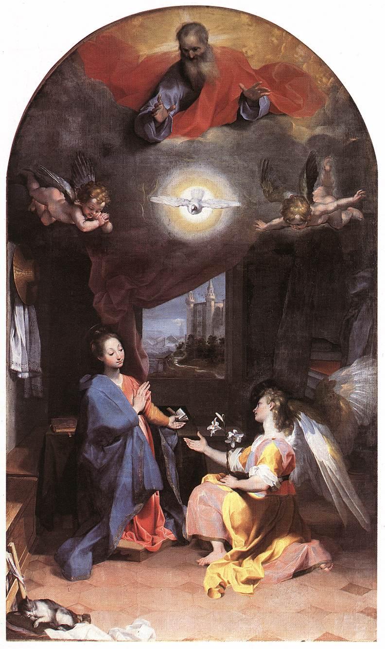 WebMuseum: Barocci, Federico: Annunciation