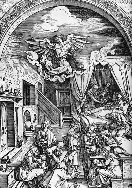 Albrecht Durer: Birth of the Virgin (from the Life of the Virgin series), 1511