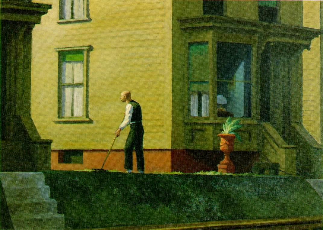 Webmuseum hopper edward street scenes for Minimal house artists