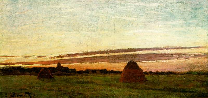 WebMuseum: Monet, Claude: Haystacks at Chailly at Sunrise