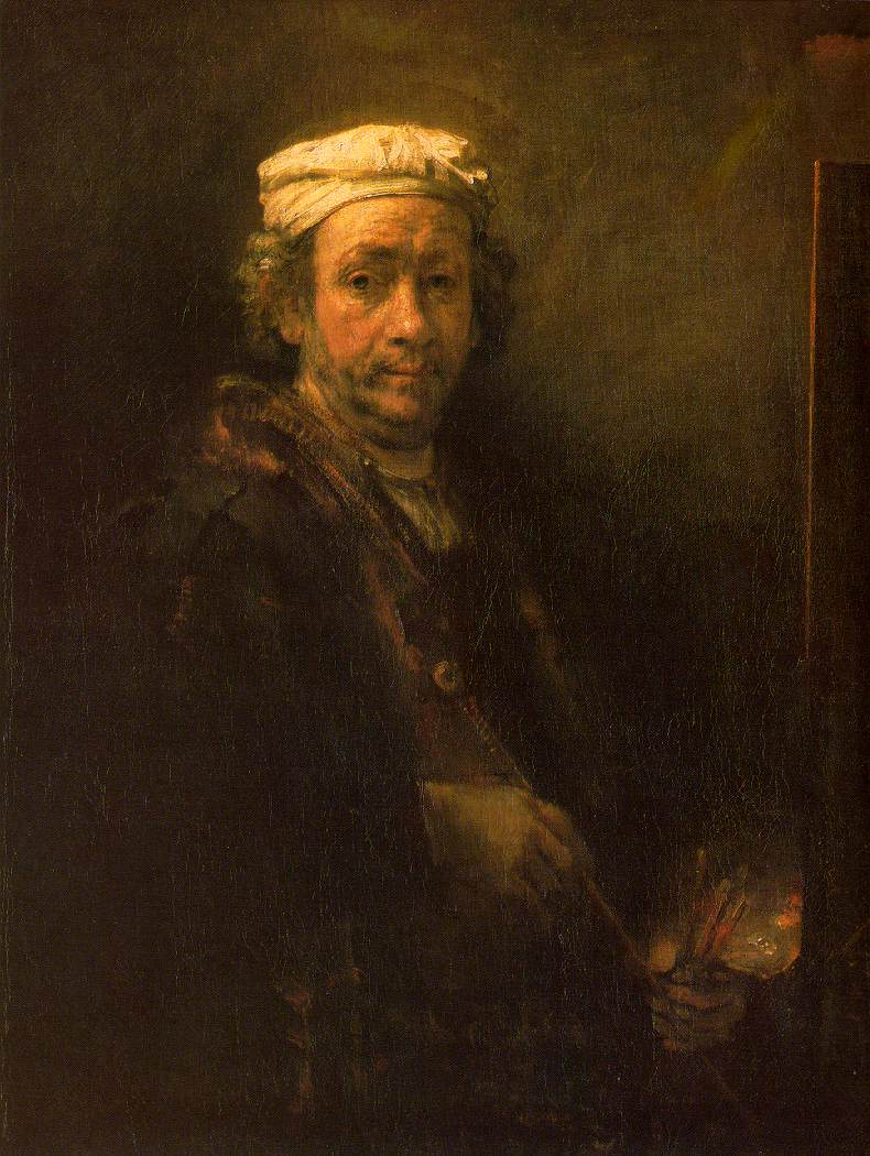 rembrandt self portraits The rembrandt scholars generally agree that this self-portrait was inspired by two well-known renaissance portraits by raphael and titian it is obvious that the pose and the position of the body in rembrandt's painting are much closer to titian's portrait (1).