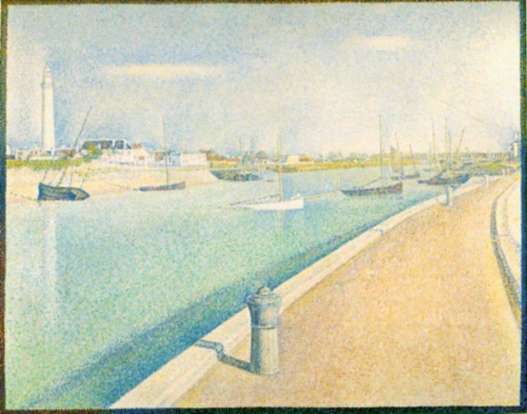 Webmuseum Seurat Georges Le Port De Gravelines