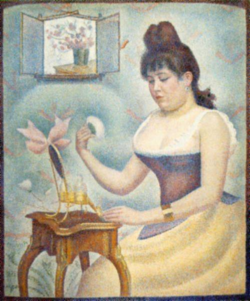 Webmuseum Seurat Georges Young Woman Powdering Herself