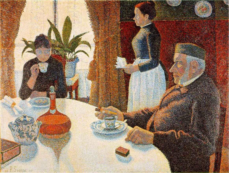 Webmuseum signac paul the dining room for O significado de dining room